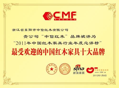 最受欢迎的中国红木家具十大品牌