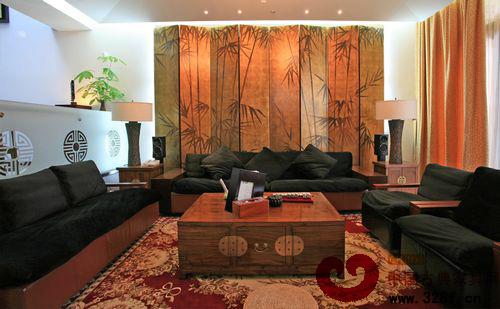 简约中式风格二居室装修-品牌红木网