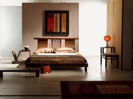 15平方米卧室装修设计图 现代中式风格卧室装修