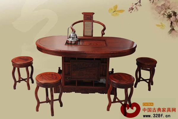 红木茶台成为时尚家居文化新亮点