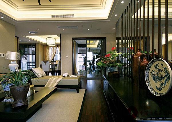 中式风格小户型装修效果图-品牌红木网