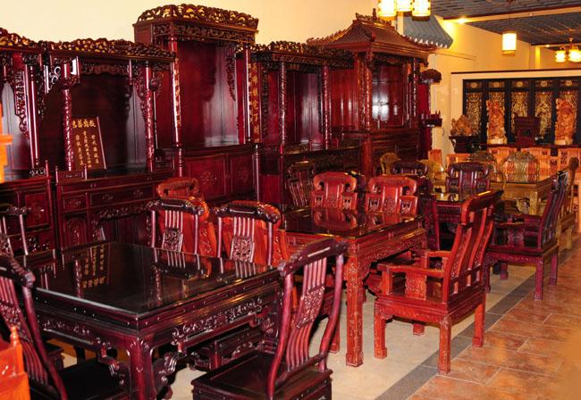 裕丰阁工艺品展厅图68,红木家具-中山裕丰古典家具店