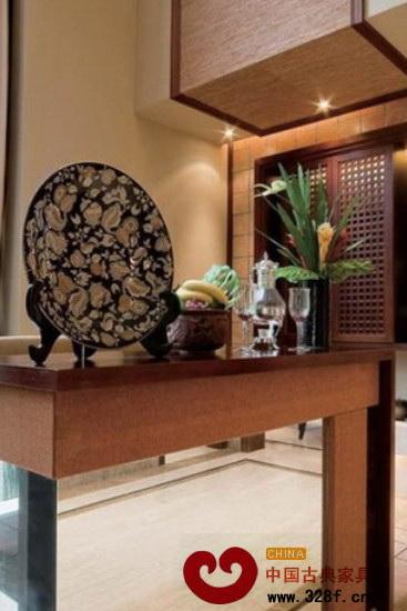 中式风格客厅屏风隔断效果图