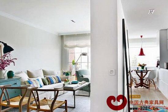 中式风格客厅屏风隔断效果图高清图片