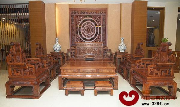 宏达一品居——非洲檀香汉代沙发