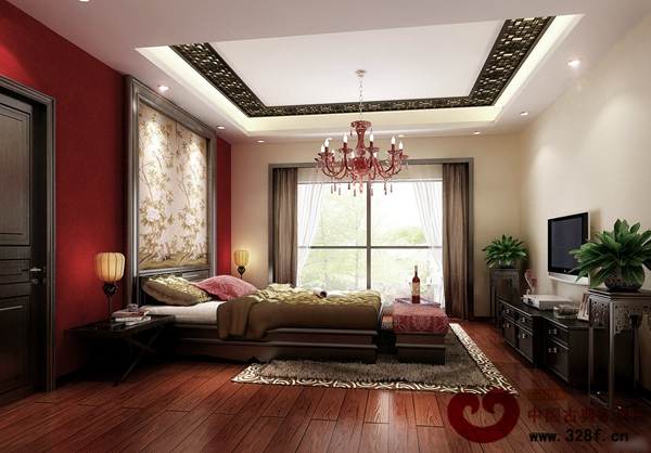210平新中式别墅客厅装修效果图-品牌红木网