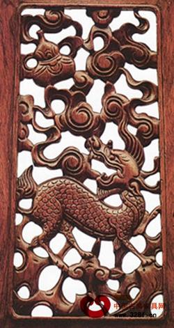 红木文化_鸿发家具:红木古典家具雕刻中麒麟纹饰的