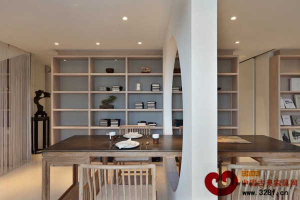 小户型中式书房餐厅装修效果图高清图片