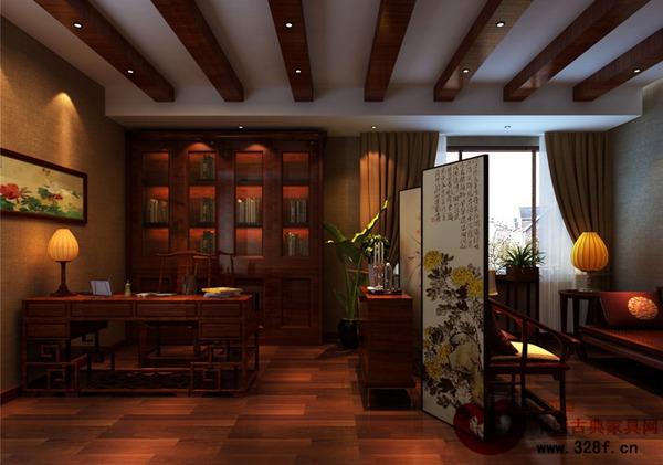 大气恢弘的中式风格别墅装修效果图-品牌红木网