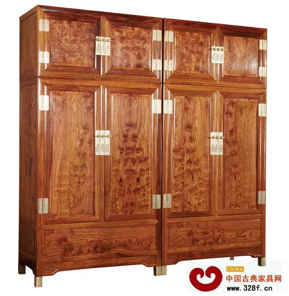 鸿绅堂刺猬紫檀顶箱柜