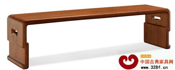 线条流畅光洁的素身琴几