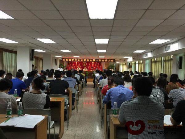 大涌镇青年企业家协会第一次会员大会在大涌镇政府举行,一众市镇领导出席大会