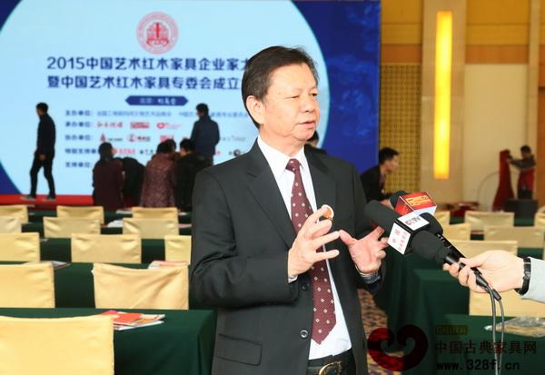 中国传统工艺大师、国寿红木董事长陈国寿接受央视采访