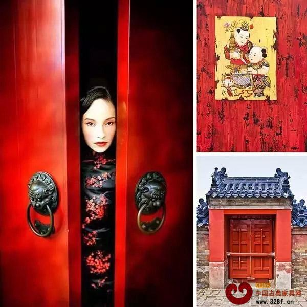 传统的红木家具配上中国红,更彰显喜庆之风