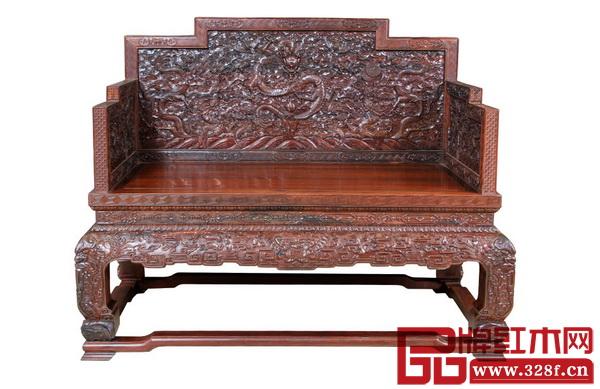 波记家具――《大红酸枝・雕龙宝座》