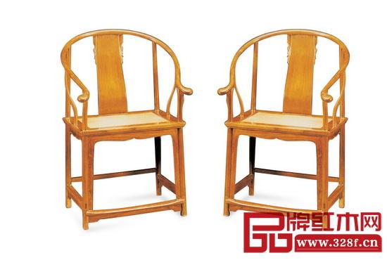 图2_明末清初 黄花梨联帮棍圈椅,长61厘米,高101.5厘米