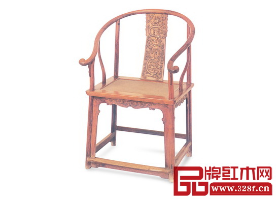 清早期 黄花梨螭龙纹圈椅(故宫博物院藏),长63 厘米,宽45 厘米,高103 厘米