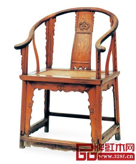 清早中期 黄花梨三段靠背板圈椅(故宫博物院藏),长61.5厘米,宽49厘米,高100.5厘米
