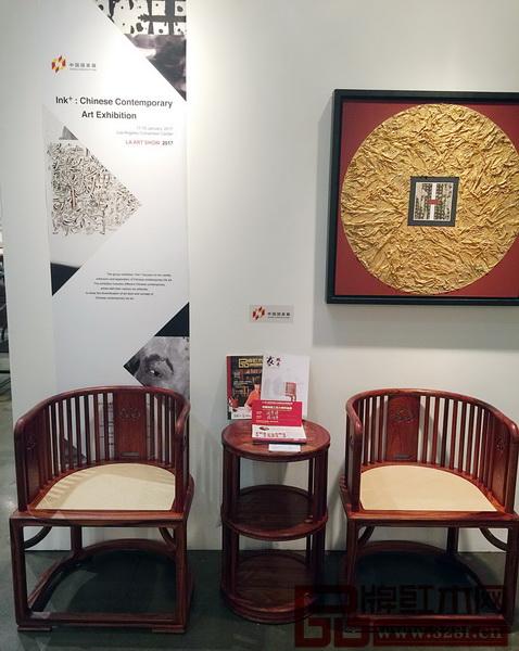 中国传统工艺大师陈国寿新明式代表作《国寿椅》亮相美国洛杉矶艺博会
