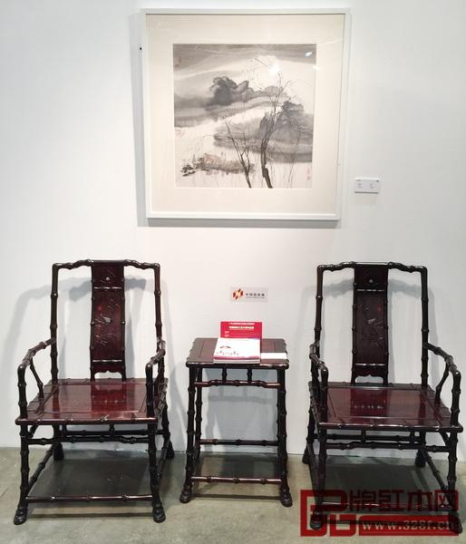 中国传统工艺大师邵湘文代表作《当代君子竹节椅》亮相美国洛杉矶艺博会
