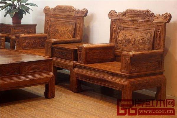 刺猬紫檀制成的家具