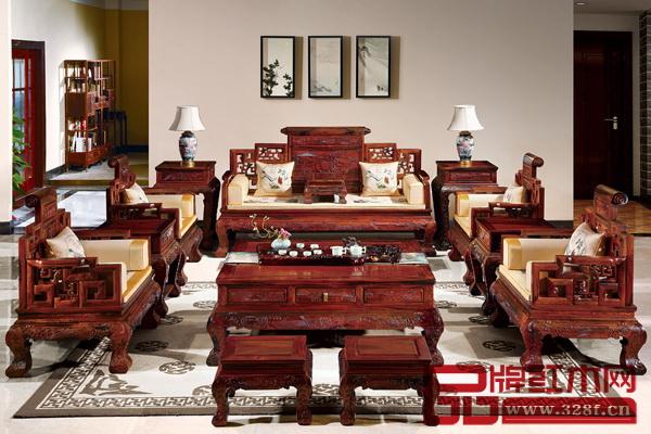 集古韵今(大不同)《大红酸枝・大卷书沙发》