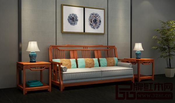 尚品红木《缅甸花梨・新中式系列沙发》