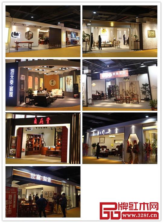 在2017中山红博会上,新中式家居馆的红木家具品牌成为一道亮丽的风景