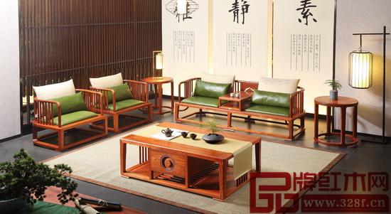 國壽·世外桃源新明式紅木家具——《軒逸客廳系列》