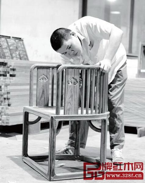 国寿椅生产流程——木工组装