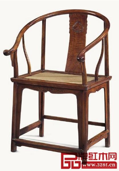 清十七十八世纪黄花梨圈椅