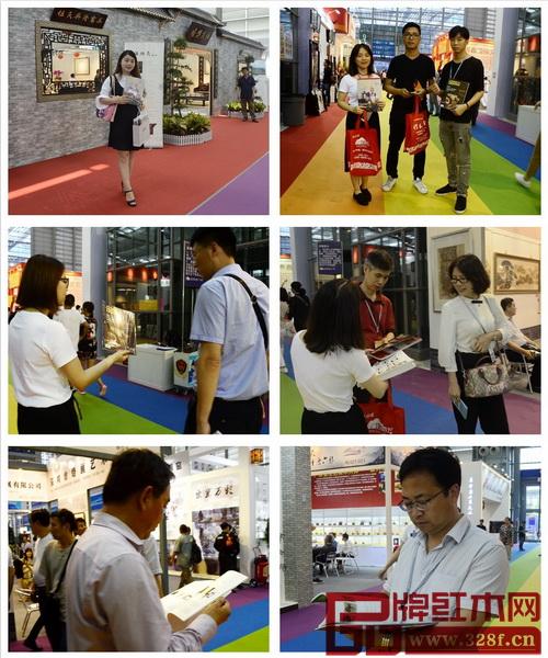 《品牌红木》杂志亮相深圳文博会,众多观展人员认真阅读并为《品牌红木》杂志点赞