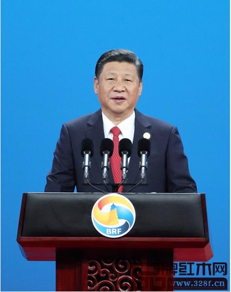 """国家主席习近平在""""一带一路""""国际合作高峰论坛开幕式上的主旨演讲引发世界关注"""