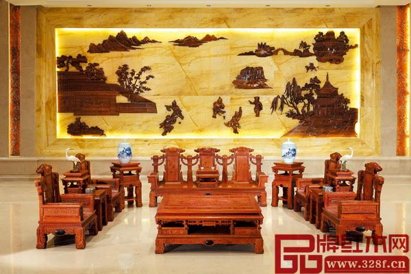 华行红木专注巴花、精品品质,成功研发出大批精品红木家具