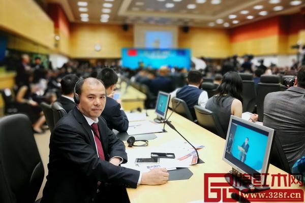 深圳市万盛宇家具有限公司董事长蒋桢全在第12届中欧工商峰会现场