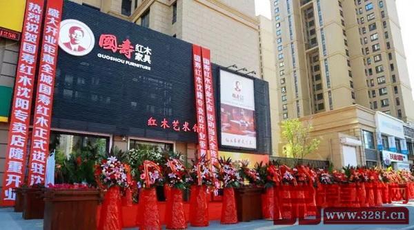 沈阳国寿红木艺术馆外景磅礴大气