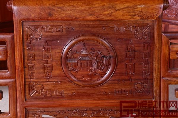 一品居《盛世卷书》沙发背靠细节展示