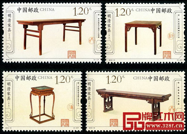 中国邮政于2012年6月9日发行的《明清家具——承具》特种邮票