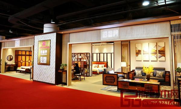 忆古轩新中式双子星品牌联展,成为首届中国新中式红木家具大会参展面积最大的品牌
