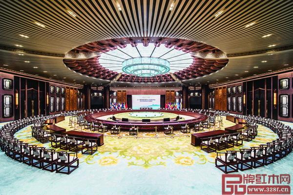 G20峰会主会场端庄典雅的中国红木家具吸引了全世界的目光