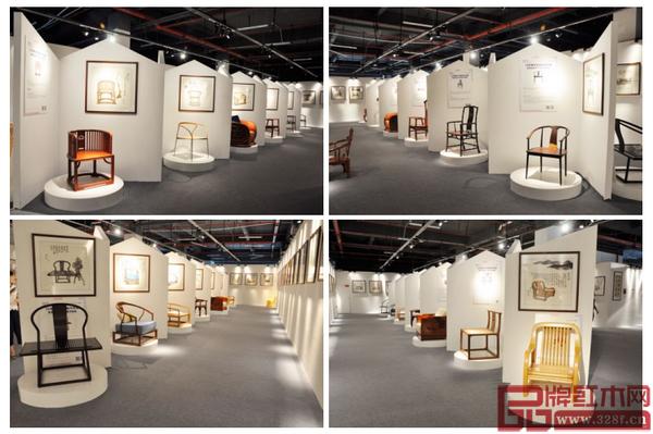 15年新中式家具经典作品展暨景初新中式家具书画展现场,雅致的布局和氛围给观者带来新颖又充满文化韵味的多重体验
