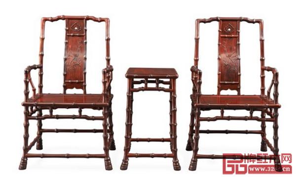 深圳泰和园董事长、中国传统工艺大师邵湘文作品《当代君子竹节椅》