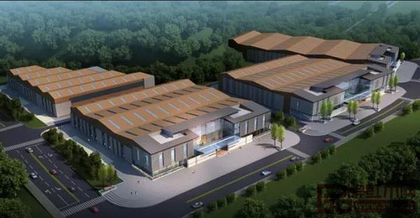 红邦小镇一期一批次一批次厂房整体效果图