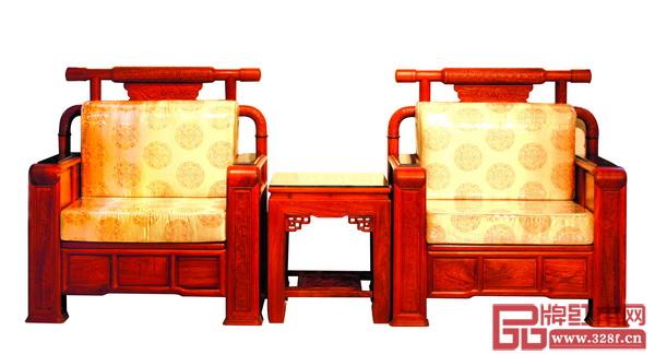 2005年安博电竞红木为北京人民大会堂浙江厅制作的软体大总统沙发