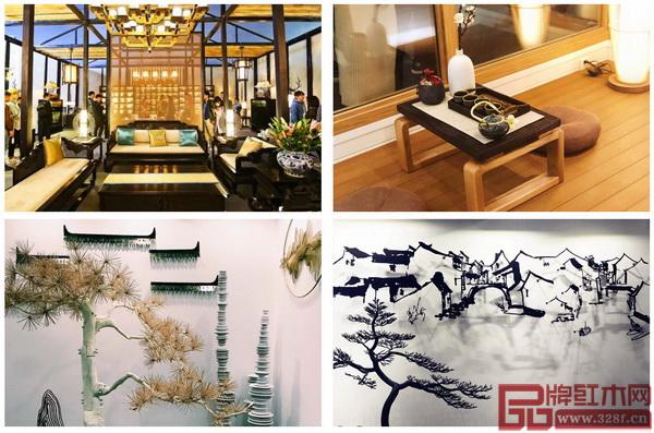 在第十二届广州设计周随处可见中式风格