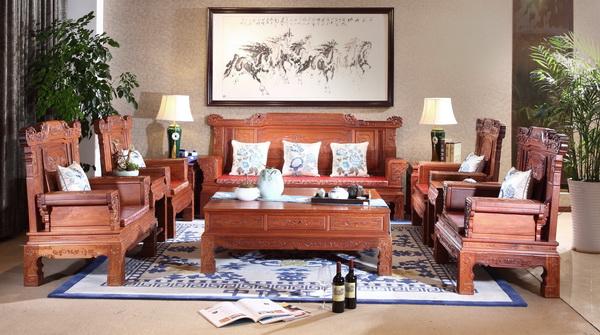 中信红木产品:《华堂富贵沙发》