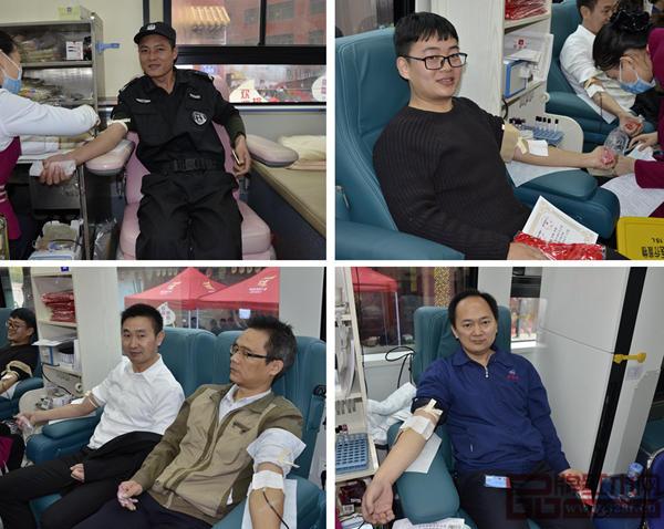 市民积极踊跃参与万盛宇红木的无偿献血活动