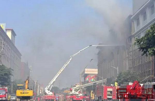 广东省中山市大涌镇一家家具厂发生火灾,过火面积约900平方米