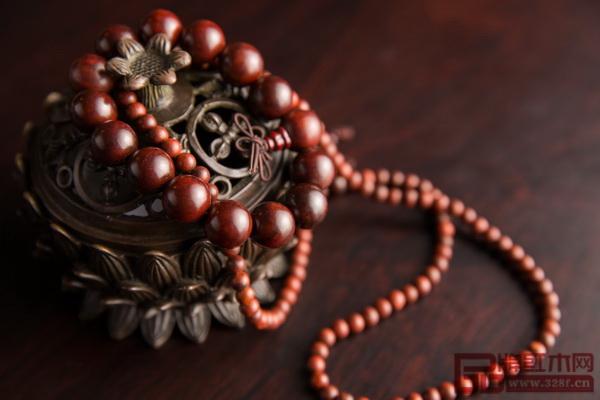 大红酸枝情侣手珠链