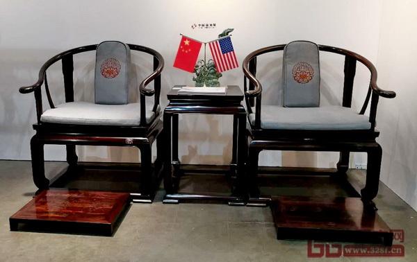东阳明堂红木参展作品《首席椅》